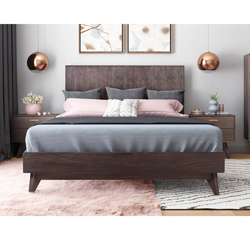 Brayden Studio Dalessio Solid Wood Platform Bed Reviews Wayfair