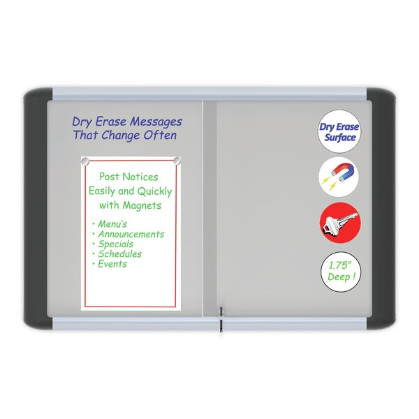 Platinum Dry Erase Wall Mounted Enclosed Bulletin Board by Mastervision