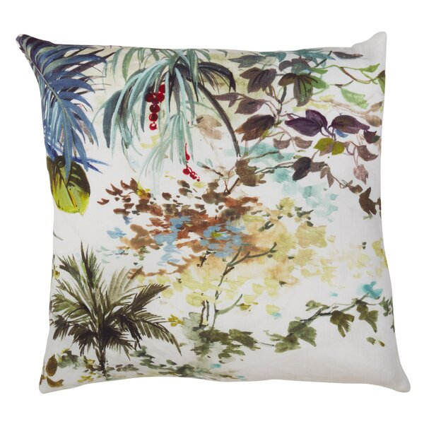 Clearfield Tropical Tree Linen Throw Pillow by Bay Isle Home