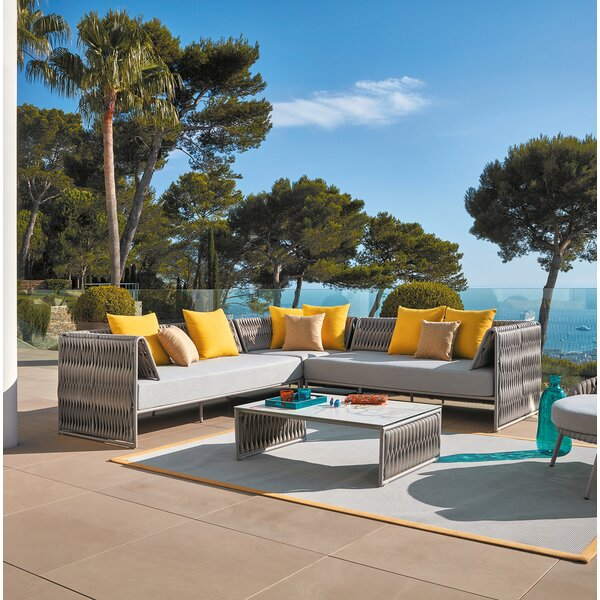 Pasquale Sectional with Cushions by Bungalow Rose