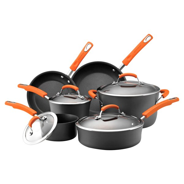 10 Piece Non-Stick Cookware Set by Rachael Ray