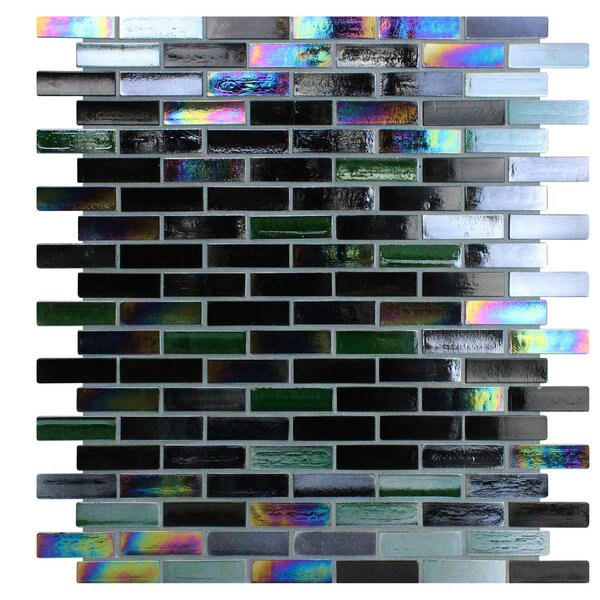 Opal 0.63 x 1.88 Glass Mosaic Tile in Cosmos by Kellani