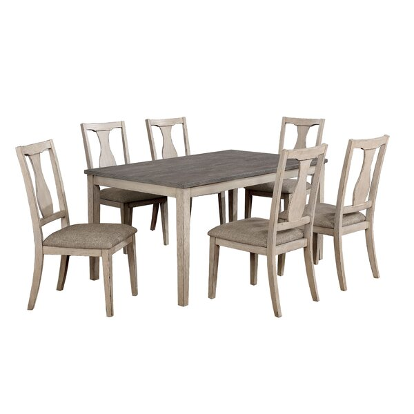 Tevis 7 Piece Dining Set by Ophelia & Co.