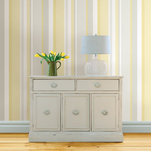 Awning Stripe Peel And Stick Wallpaper by WallPops!