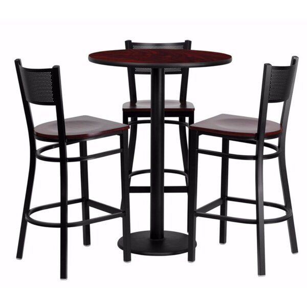 Hardage Round Laminate 4 Piece Pub Table Set by Red Barrel Studio