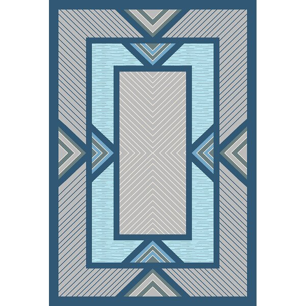 Mccampbell 3D Modern Contemporary Blue/Gray Area Rug by Ivy Bronx