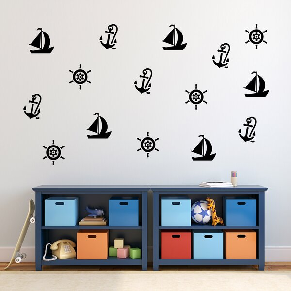 Nautical Wall Decal Set (Set of 3) by Zoomie Kids
