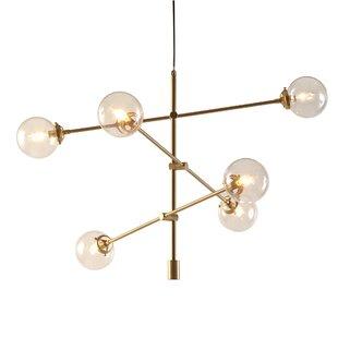 Modern black gold chandeliers allmodern save aloadofball Image collections