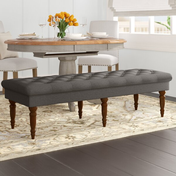 Hodapp Layla Tufted Upholstered Bench by Alcott Hi