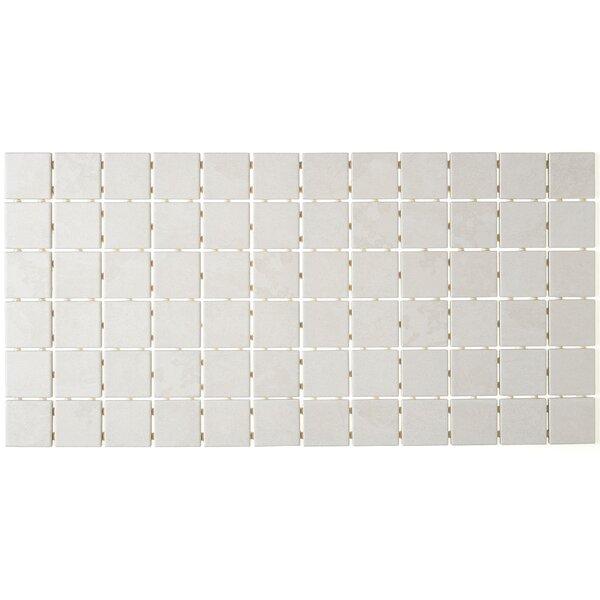 Slate Attaché 2 x 2 Ceramic Mosaic Tile in Meta White by Daltile