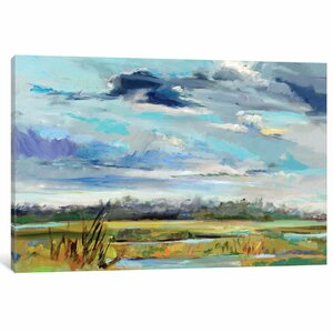 Marsh Skies Painting on Wrapped Canvas by East Urban Home