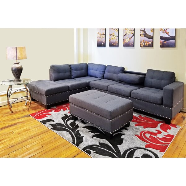 Raquel Sectional with Ottoman by Alcott Hill