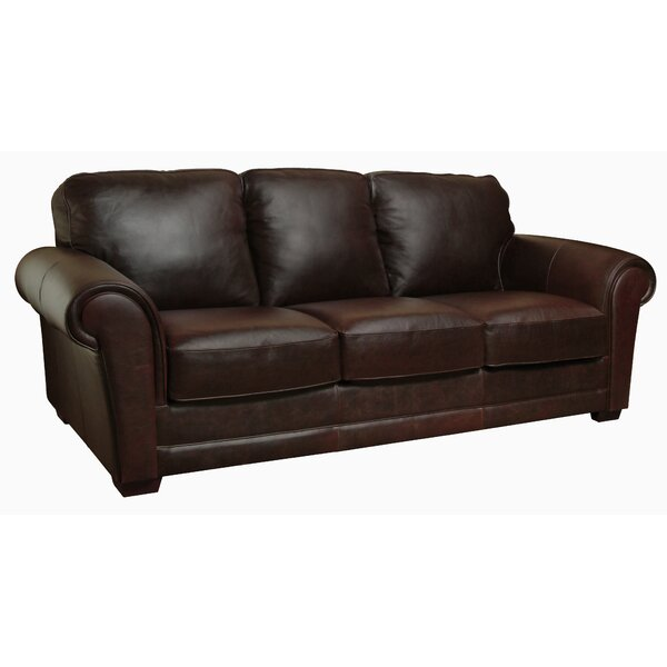 Buda Leather Sofa by Williston Forge