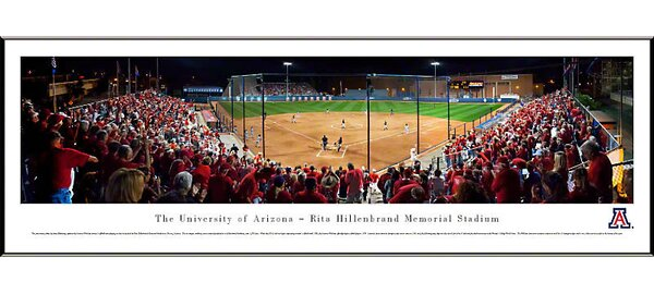 NCAA Baseball Standard Framed Photographic Print by Blakeway Worldwide Panoramas, Inc