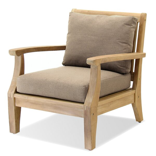 Miramar Teak Patio Chair with Sunbrella Cushions by Forever Patio