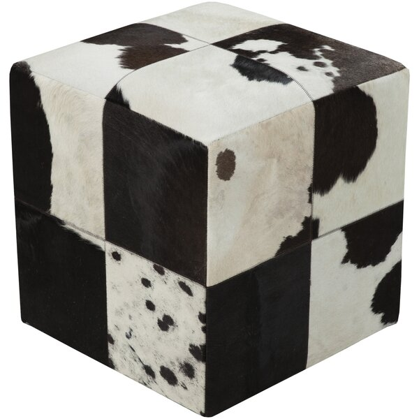 Bucci Hill Leather Pouf by Trent Austin Design