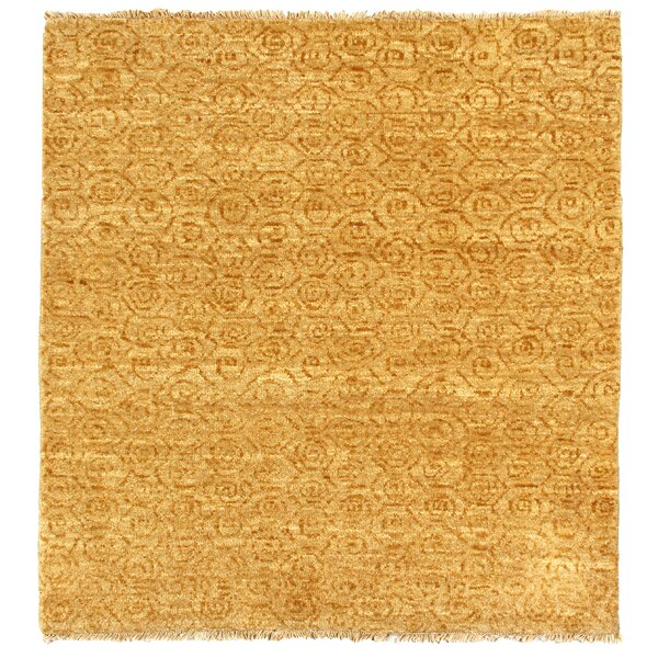 Metropolitan Hand Knotted Wool Ivory/Gold Area Rug by Exquisite Rugs
