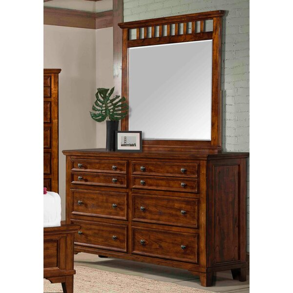 Aldfreck 8 Drawer Double Dresser with Mirror by Loon Peak