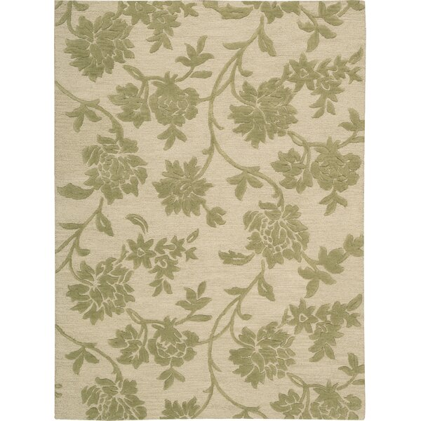 Peterson Hand-Tufted Ivory/Green Area Rug by Darby Home Co