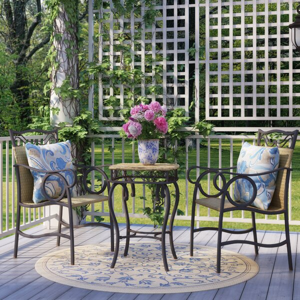 Stapleton 3 Piece Bistro Set by Charlton Home