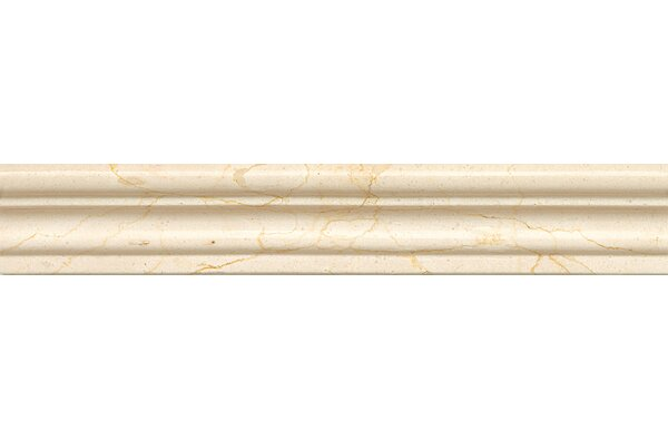 2 x 12 Marble Polished Chair Rail Tile in Crema Marfil Select by Grayson Martin