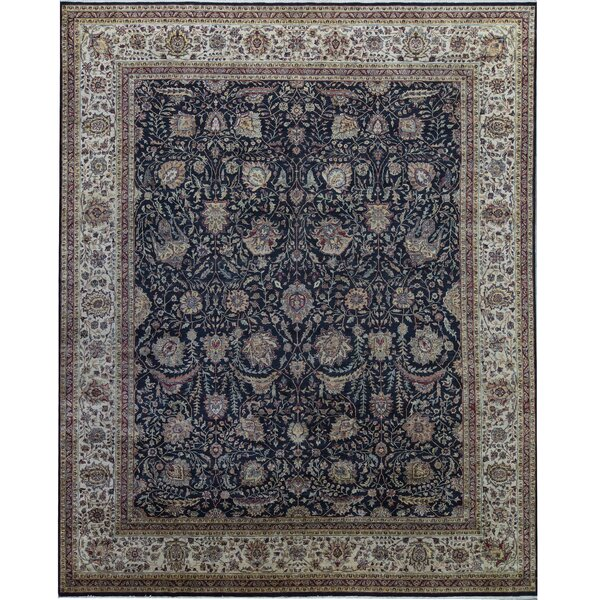 One-of-a-Kind Sona Hand-Knotted Black 12' x 14'9 Area Rug