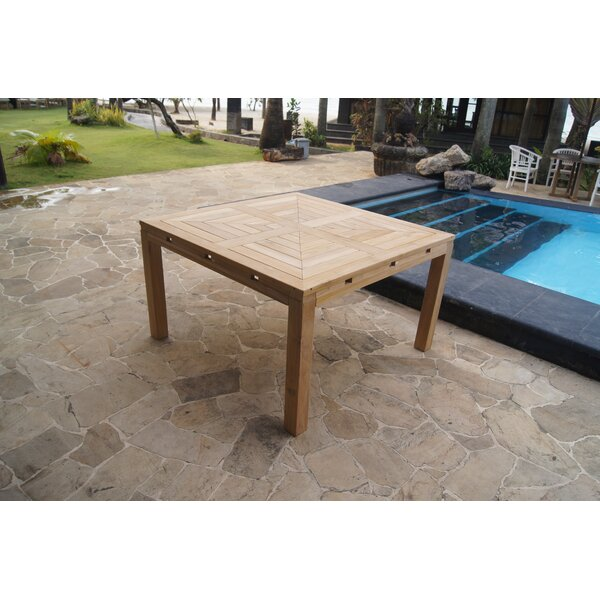 Gosling Teak Dining Table by Rosecliff Heights