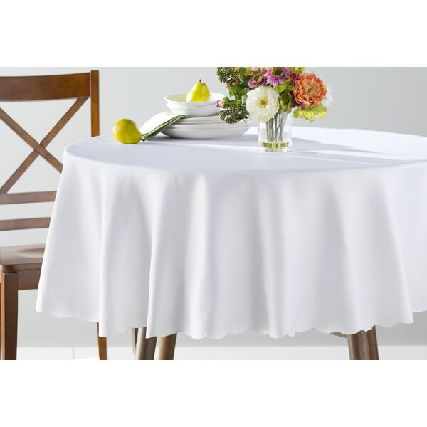 Sadie Polyester Round Tablecloth by Mint Pantry