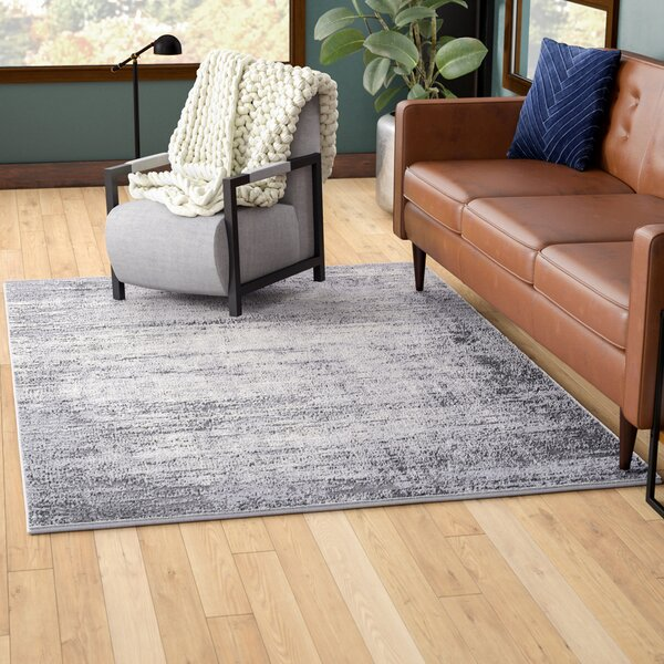 Bridgeton Distressed Gray/Cream Area Rug by Greyleigh