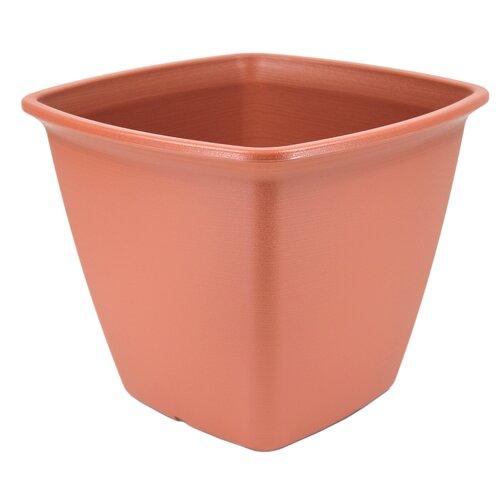 Square Plastic Plant Pot IRIS Colour: Brown, Size: 33cm H x