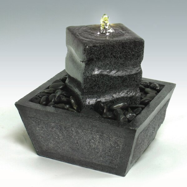 Fiberglass/Resin Tabletop Fountain with LED Light by Algreen