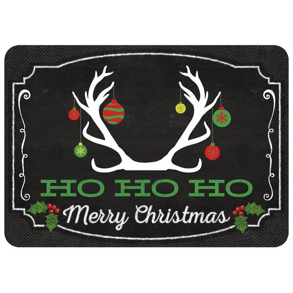 Deer Ornament Kitchen Mat