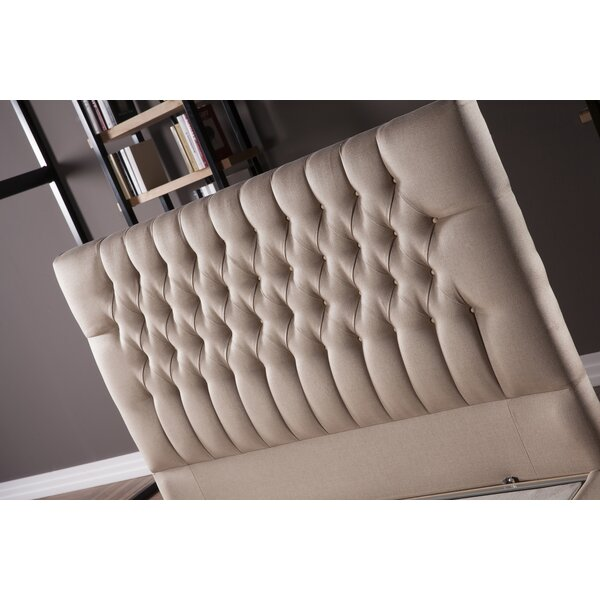 Wauseon Upholstered Panel Headboard by Everly Quinn