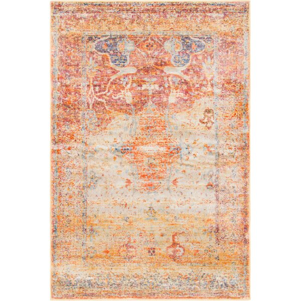 Parodi Yellow/Orange Area Rug by Bungalow Rose