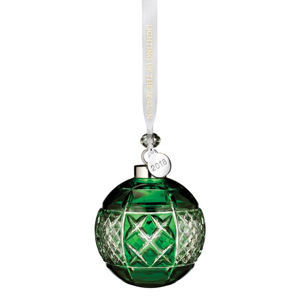 Emerald Ball Ornament by Waterford