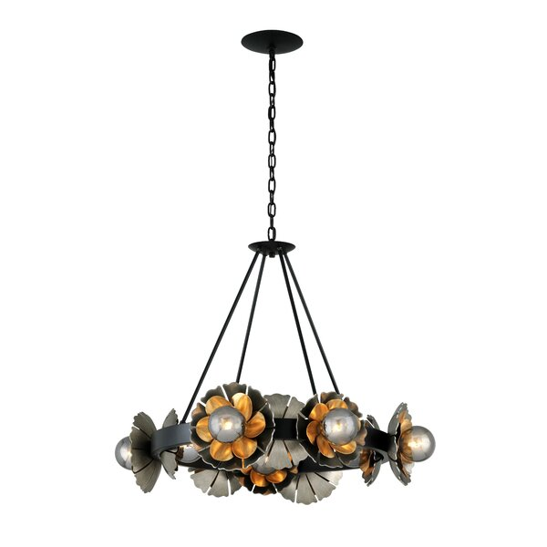 Magic Garden 10-Light Unique / Statement Wagon Wheel Chandelier by Corbett Lighting Corbett Lighting