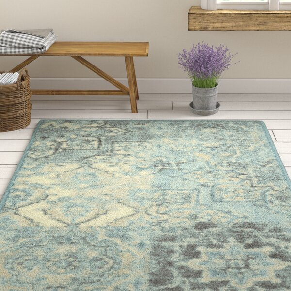 Marshawn Teal Area Rug by Ophelia & Co.