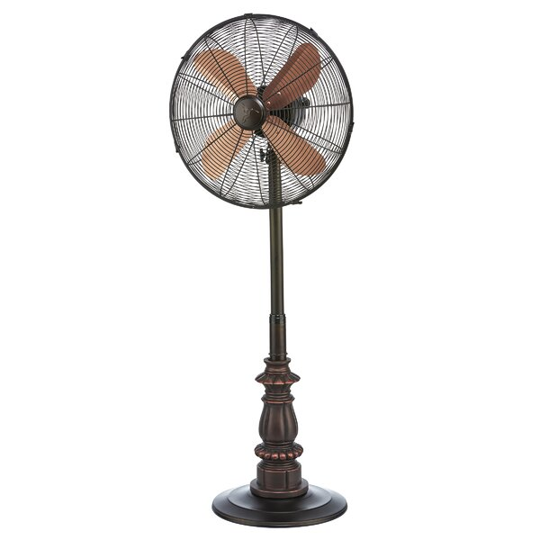 Pinion Adjustable Oscillating Floor Fan by Astoria Grand