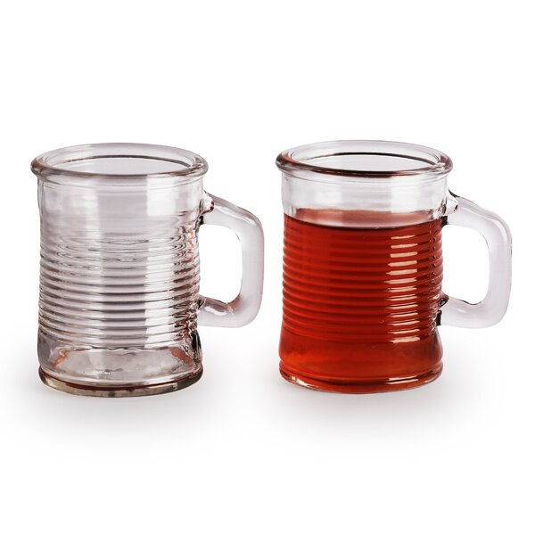 Canned 5 oz. Mini Handled Mugs (Set of 6) by Circle Glass