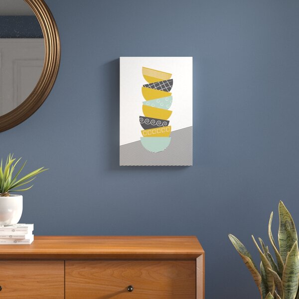 Bowls Graphic Art on Wrapped Canvas in Color by Langley Street