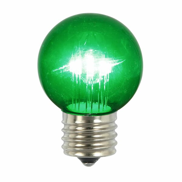 9W Green E26 LED Light Bulb (Set of 5) by Vickerman