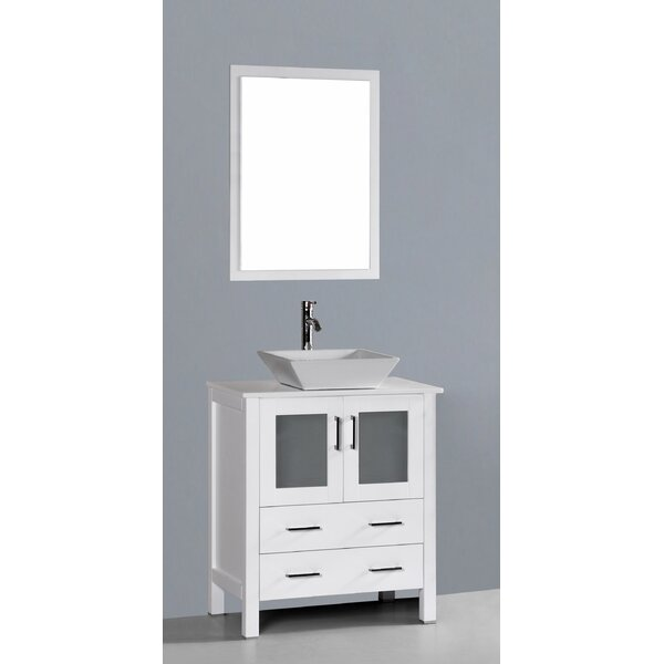 Boswell 30 Single Bathroom Vanity Set with Mirror by Bosconi