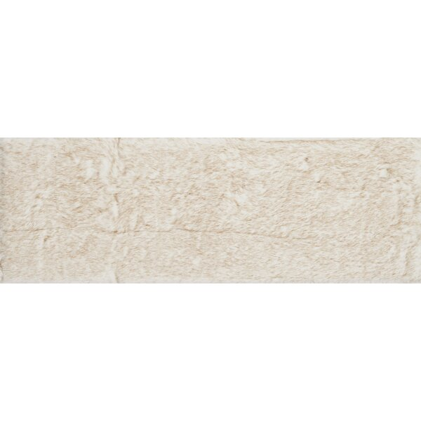 Ashleigh Faux Fur Ivory/Beige Area Rug by Union Rustic