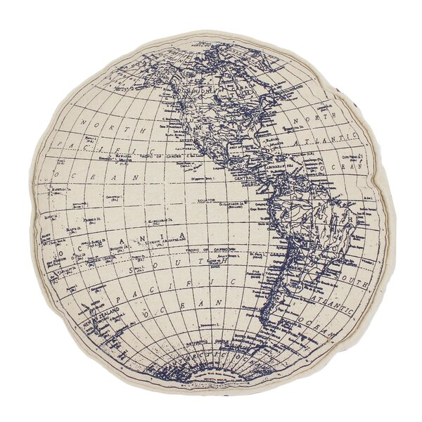 Jasper Round Globe Printed on Daze Throw Pillow by Breakwater Bay