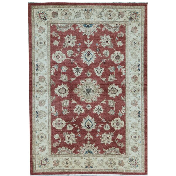 Sultanabad Oriental Hand-Knotted Wool Red/Cream Area Rug