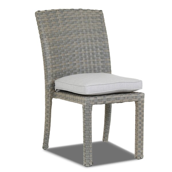 Majorca Armless Patio Dining Chair with Cushion by Sunset West