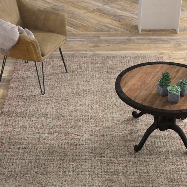 Mccurry Hand-Hooked Wool Brown Area Rug by Williston Forge