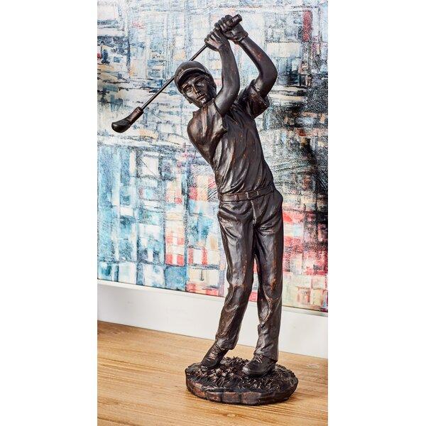Buggs Modern Contemporary Swinging Golfer Figurine by Alcott Hill