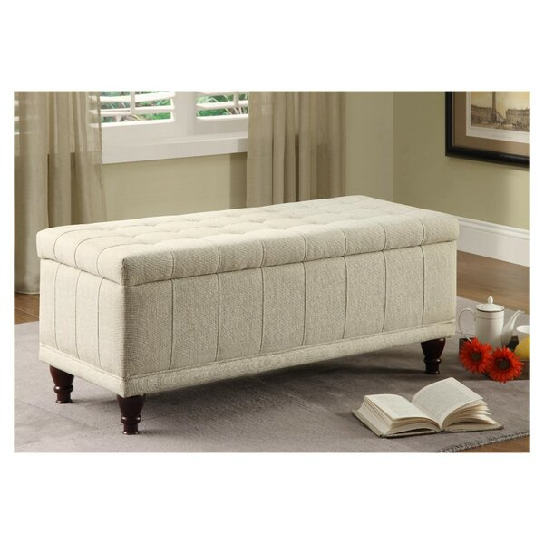 Burden Lift-up Upholstered Storage Bench by Alcott Hill