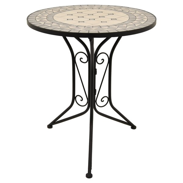 Granado Metal Bistro Table by Fleur De Lis Living
